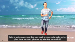 Bachata video with Spanish subtitle